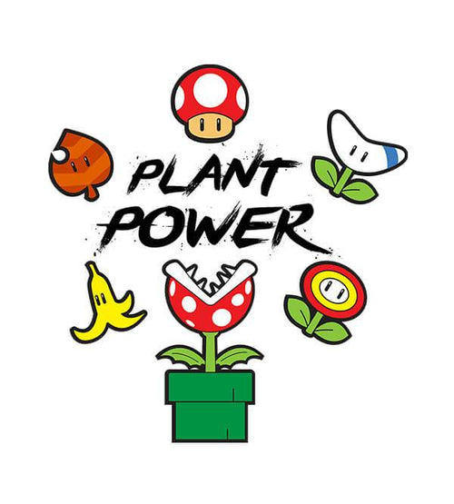Plant Power White T-Shirts by Edge Fitness - Pixel Empire