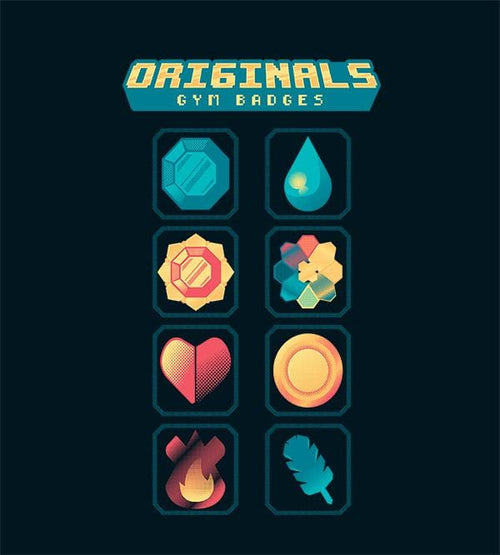Original Gym Badges Hoodies by Andre Fellipe - Pixel Empire
