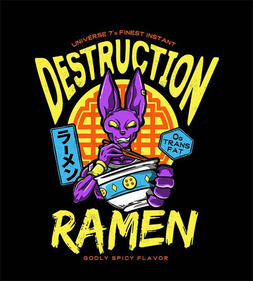 Destruction Ramen T-Shirts by Barrett Biggers - Pixel Empire