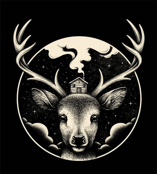 Deer Home Hoodies by Enkel Dika - Pixel Empire