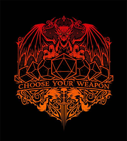 Choose Your D&d Weapon T-Shirts by Studiom6 - Pixel Empire
