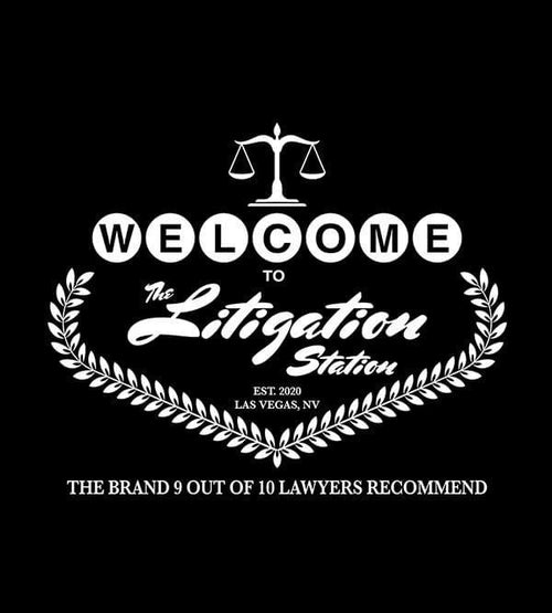 The Litigation Station T-Shirts by Scott The Woz - Pixel Empire