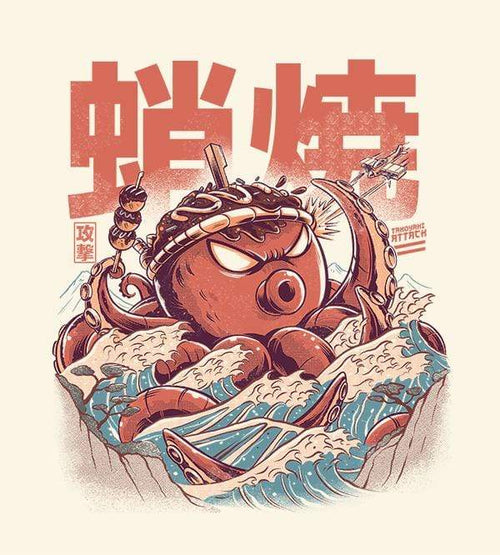 Takoyaki Attack T-Shirts by Ilustrata - Pixel Empire