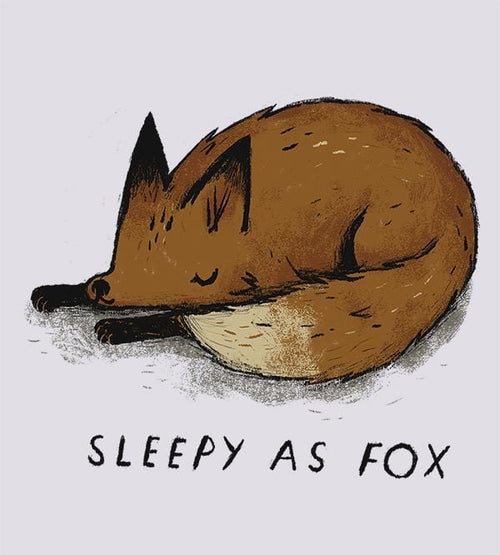 Sleepy As Fox Hoodies by Louis Roskosch - Pixel Empire