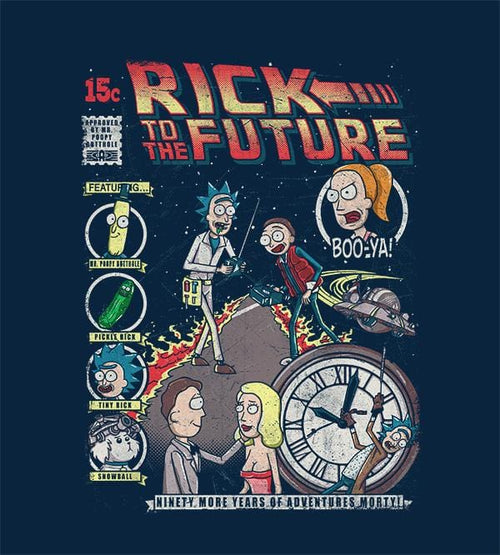 Rick To The Future T-Shirts by Punksthetic - Pixel Empire