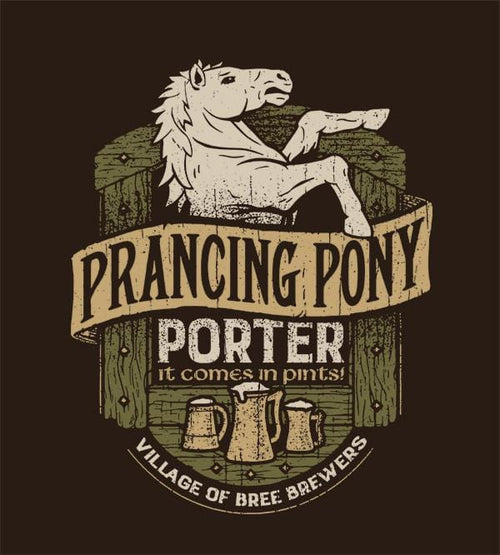 Prancing Pony Porter T-Shirts by Cory Freeman Design - Pixel Empire