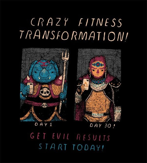 Fitness Transformation T-Shirts by Louis Roskosch - Pixel Empire