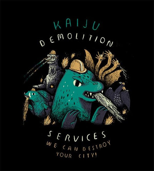Kaiju Demolition T-Shirts by Louis Roskosch - Pixel Empire