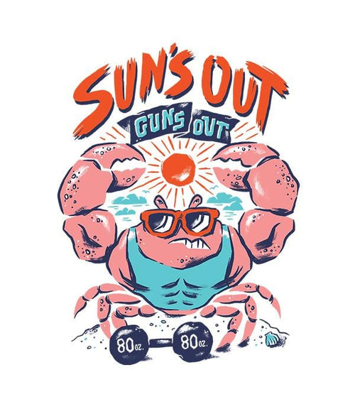 Suns Out Guns Out Hoodies by Chris Phillips - Pixel Empire