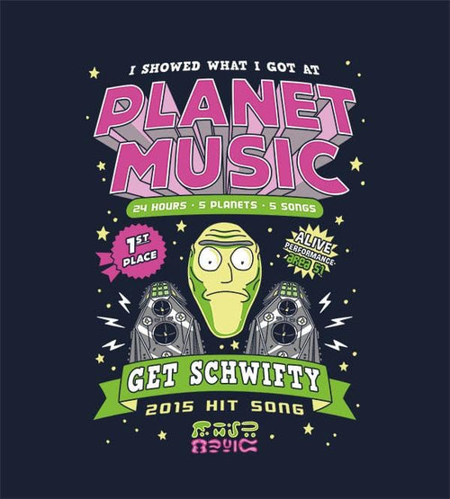 Planet Music Winner T-Shirts by Olipop - Pixel Empire
