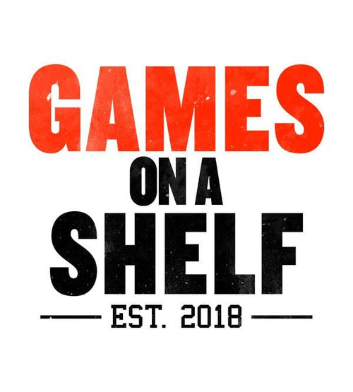 Games On A Shelf T-Shirts by Scott The Woz - Pixel Empire