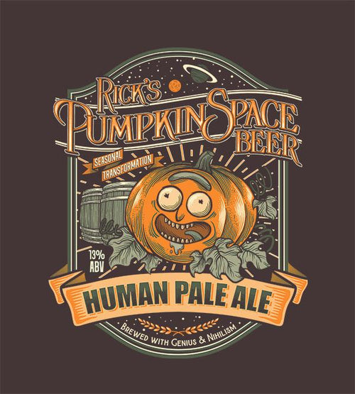 Rick's Pumpkin Space HPA T-Shirts by Diego Pedauyé - Pixel Empire