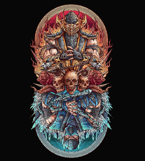 Fire vs Ice T-Shirts by Juan Manuel Orozco - Pixel Empire