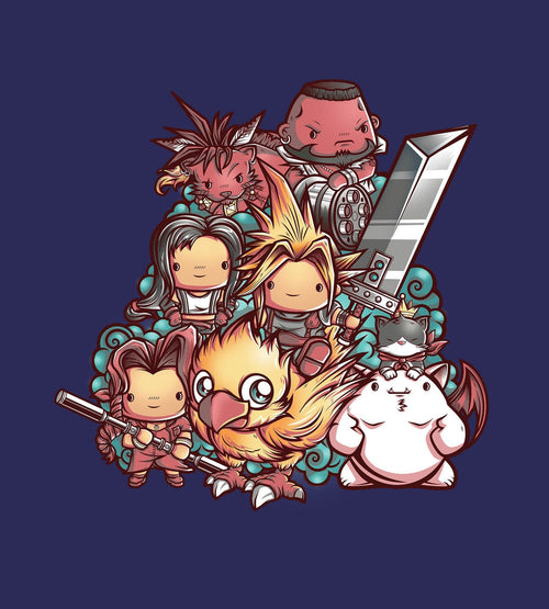 Cute Fantasy VII T-Shirts by Juan Manuel Orozco - Pixel Empire