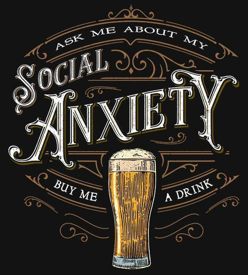 Social Anxiety T-Shirts by Barrett Biggers - Pixel Empire