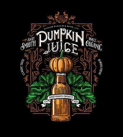 Pumpkin Juice T-Shirts by Barrett Biggers - Pixel Empire