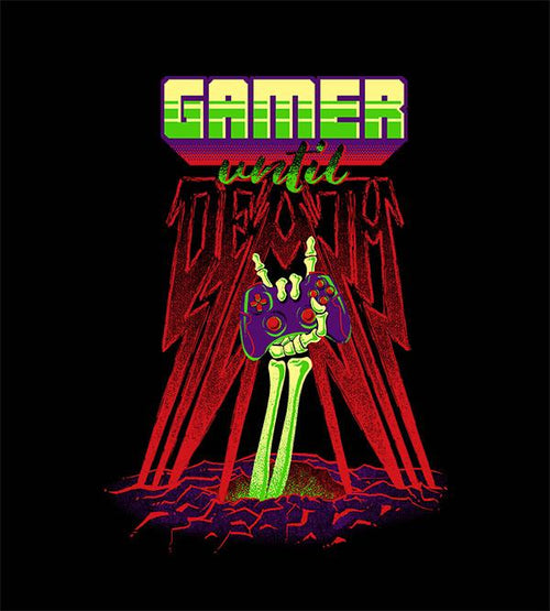 Gamer Until Death T-Shirts by Diego Pedauyé - Pixel Empire