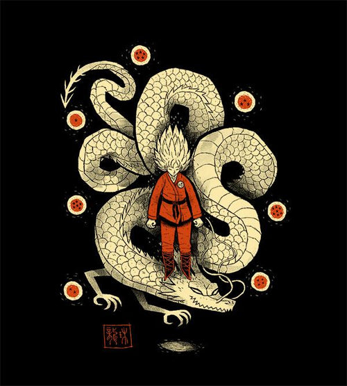 Dragon God T-Shirts by Louis Roskosch - Pixel Empire