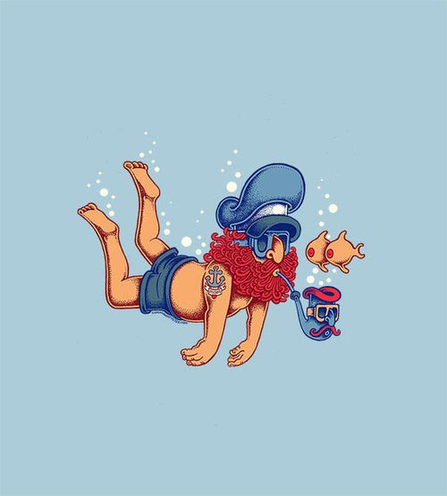 Diver T-Shirts by Copenhagen Poster - Pixel Empire