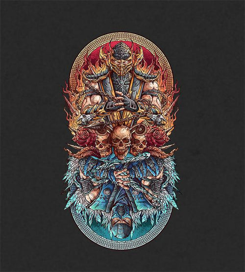 Fire vs Ice Hoodies by Juan Manuel Orozco - Pixel Empire
