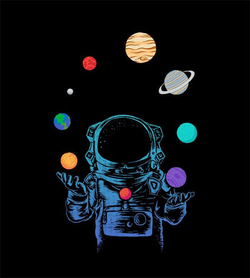 Space Juggler T-Shirts by Daniel Teres - Pixel Empire