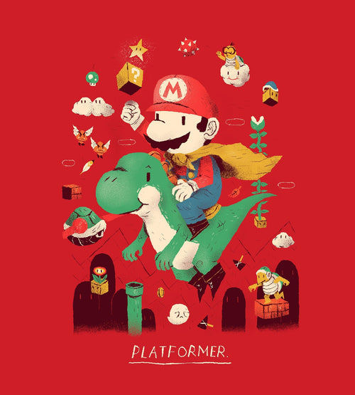 Platformer T-Shirts by Louis Roskosch - Pixel Empire