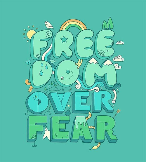 Freedom Over Fear Hoodies by Rick Crane - Pixel Empire