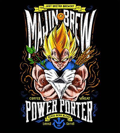 Majin Brew T-Shirts by Barrett Biggers - Pixel Empire