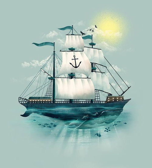 The Whaleship T-Shirts by Dan Elijah Fajardo - Pixel Empire