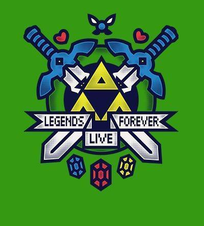 Legends Live Forever Hoodies by COD Designs - Pixel Empire