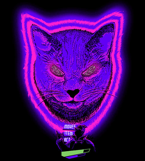 Cat Boss Fight T-Shirts by Relaxalax - Pixel Empire