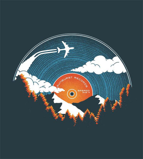 Sunburst Records T-Shirts by Dianne Delahunty - Pixel Empire