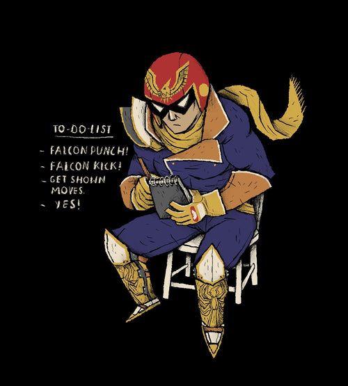 Falcon To Do List T-Shirts by Louis Roskosch - Pixel Empire
