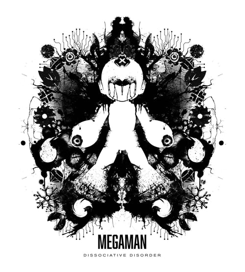 Megaman Ink Blot T-Shirts by Barrett Biggers - Pixel Empire