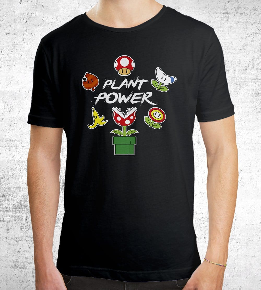 Plant Power T-Shirts by Edge Fitness - Pixel Empire