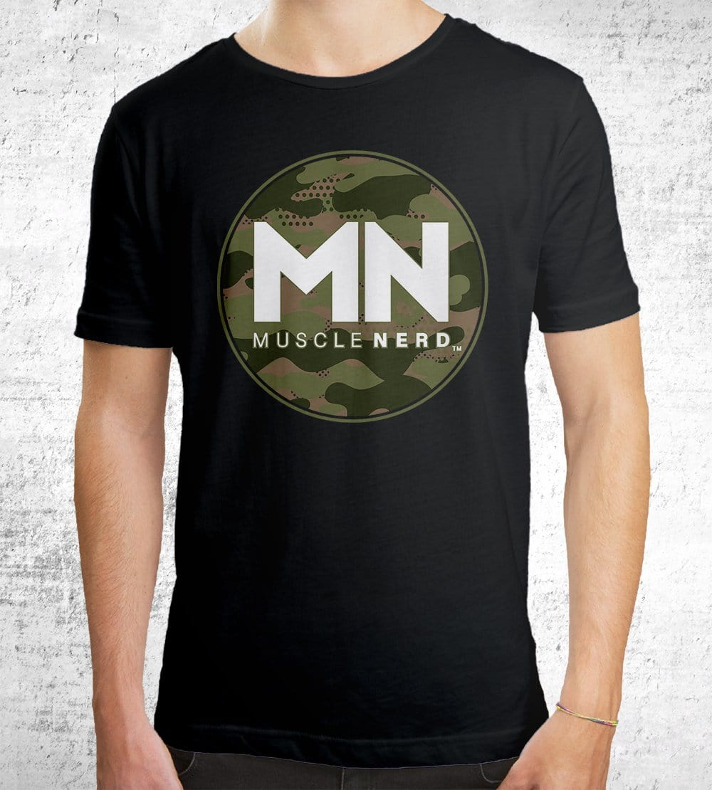 Camo Muscle Nerd T-Shirts by Muscle Nerd - Pixel Empire