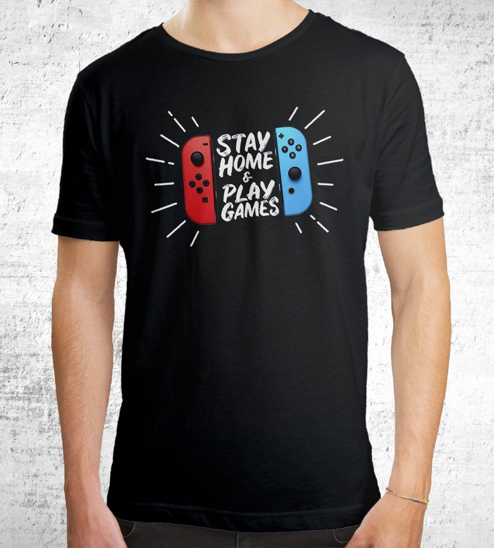 Stay Home & Play Games T-Shirts by Beatemups - Pixel Empire