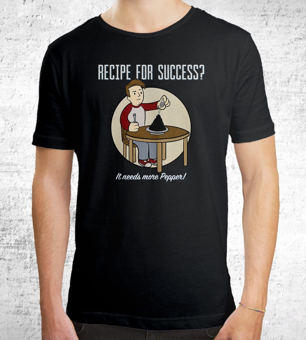 Recipe For Success? T-Shirts by UpIsNotJump - Pixel Empire