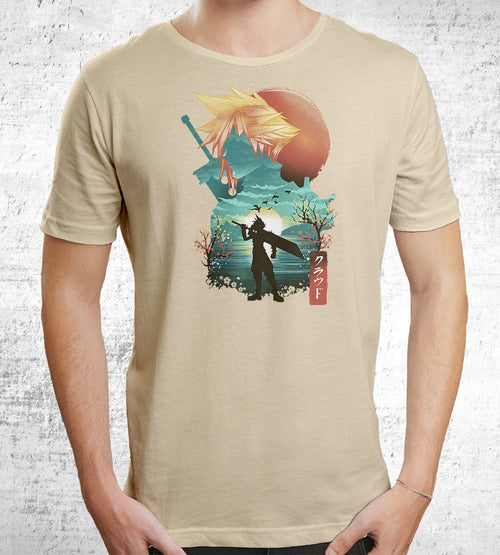 Final Fantasy Ukiyo Cloud T-Shirts by Dan Elijah Fajardo - Pixel Empire