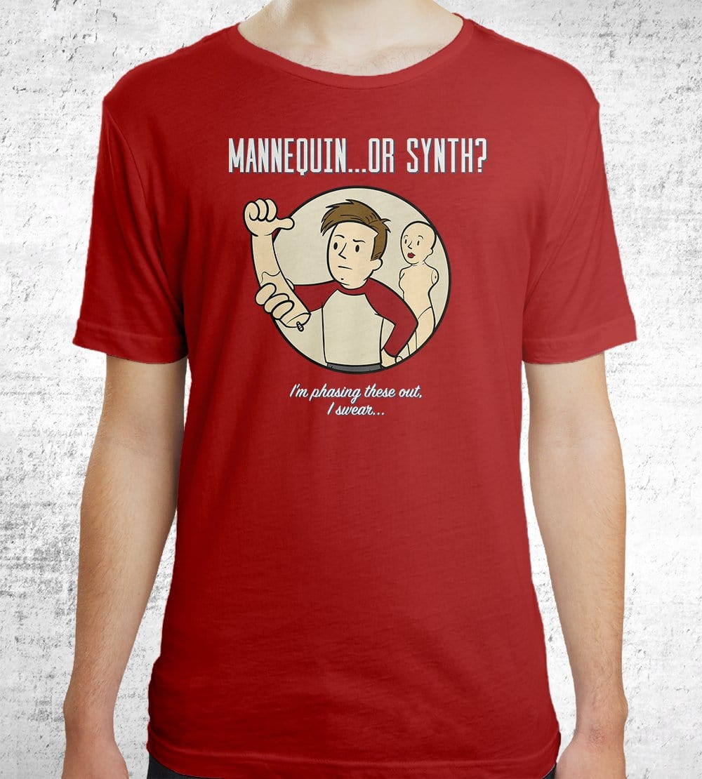 Mannequin...or Synth? T-Shirts by UpIsNotJump - Pixel Empire
