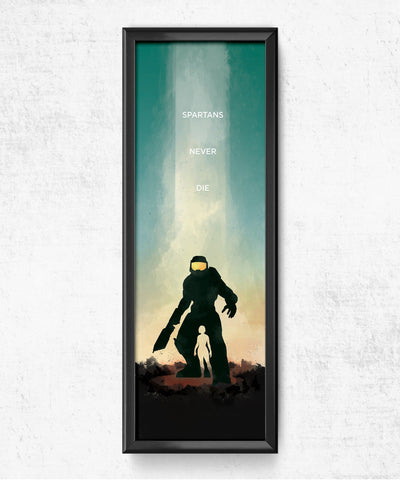 LIMITED Halo - Spartans Never Die Posters- The Pixel Empire