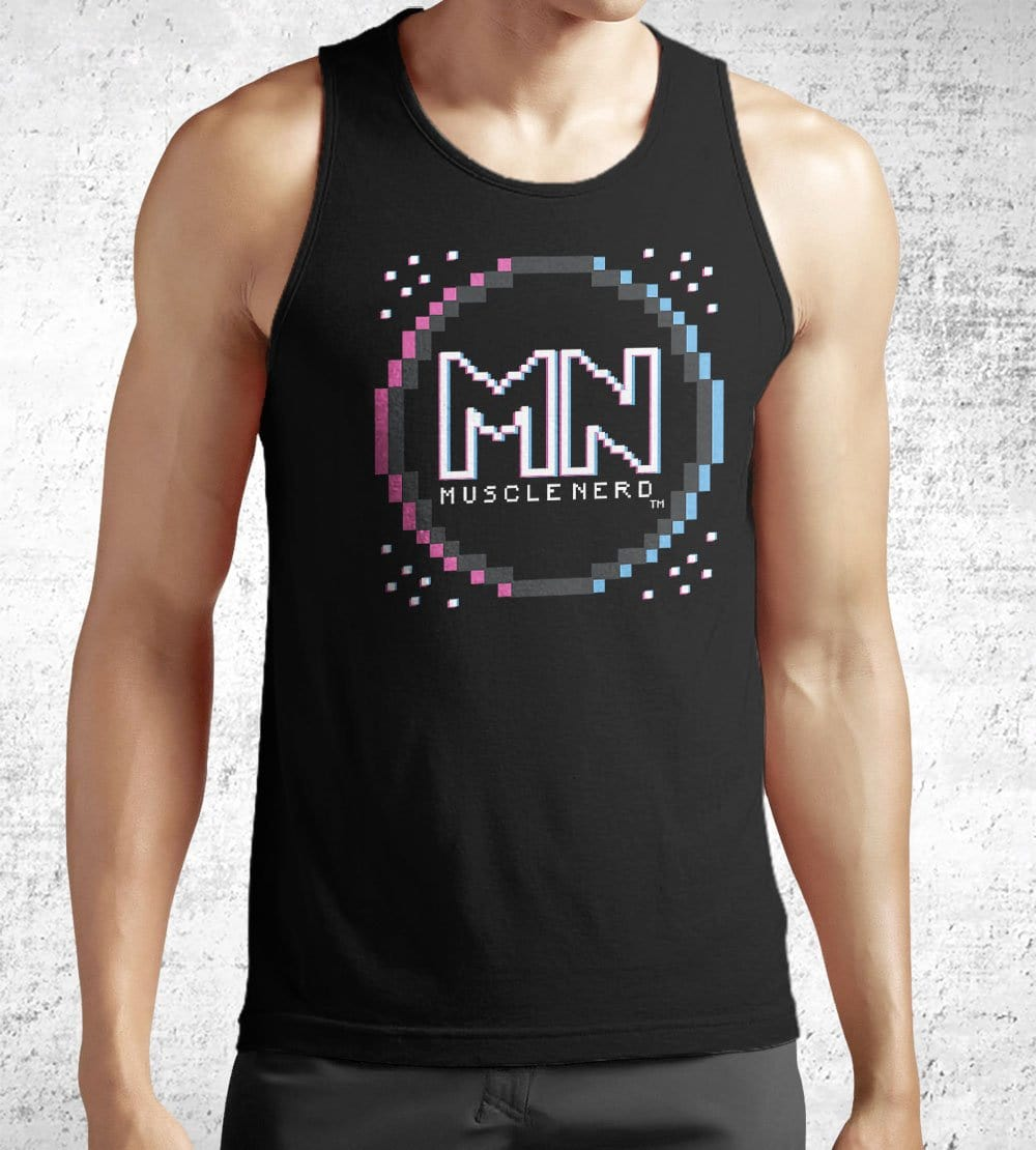 8-bit Retro Muscle Nerd Tank Tops by Muscle Nerd - Pixel Empire