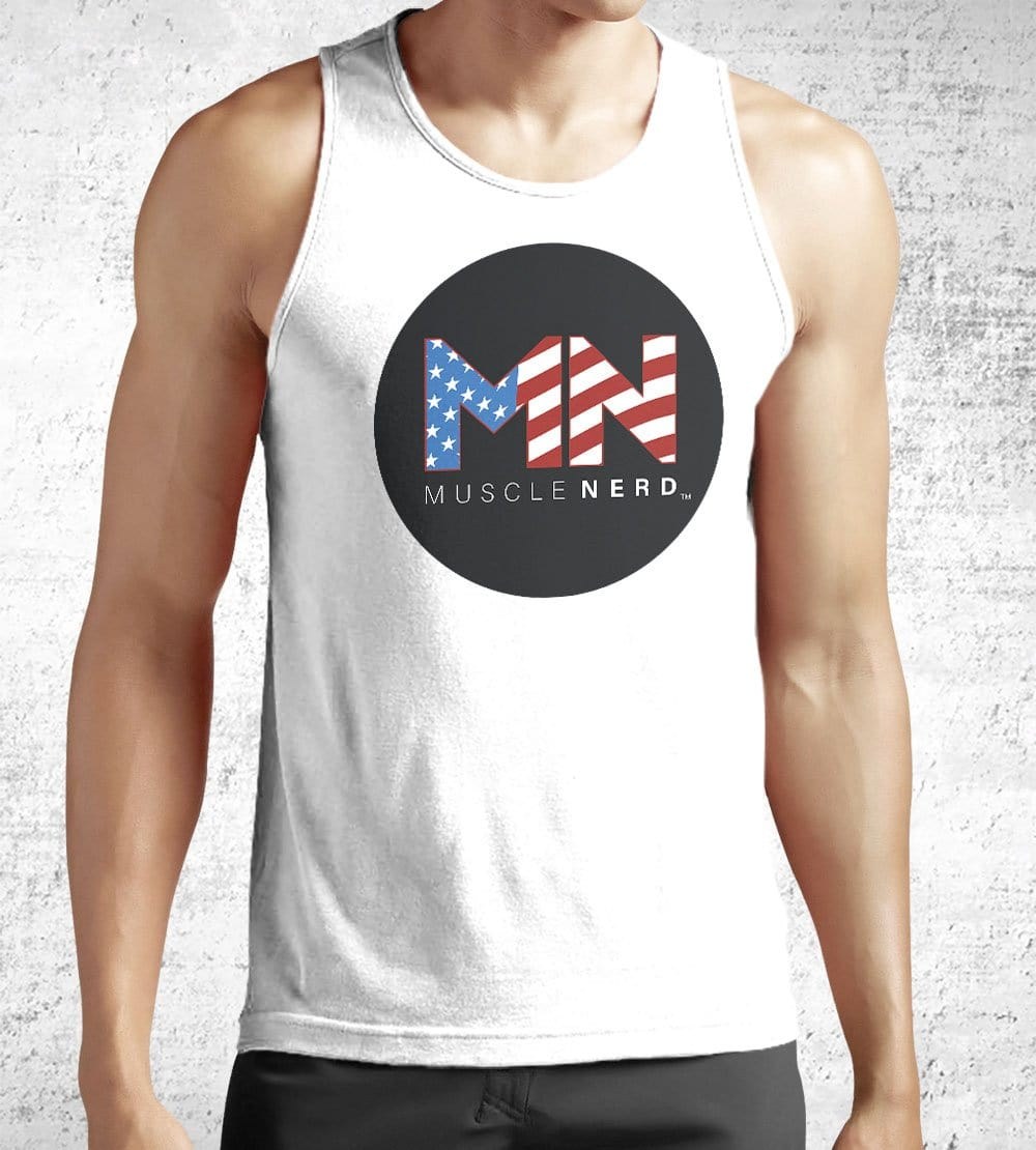 American Flag Muscle Nerd Tank Tops by Muscle Nerd - Pixel Empire