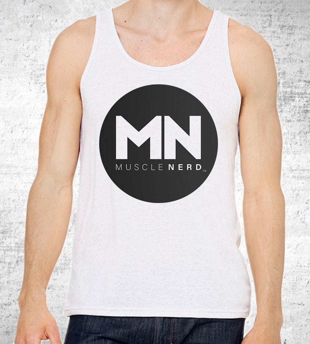 Muscle Nerd Logo Tank Tops by Muscle Nerd - Pixel Empire