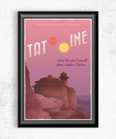 Tatooine Travel Poster Posters- The Pixel Empire
