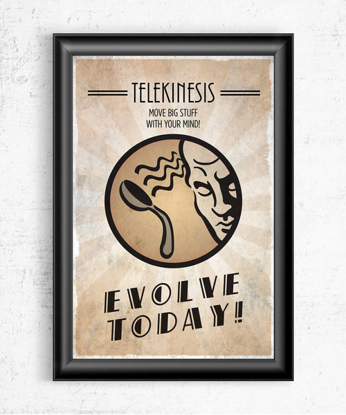 Bioshock Plasmid Telekinesis Posters- The Pixel Empire