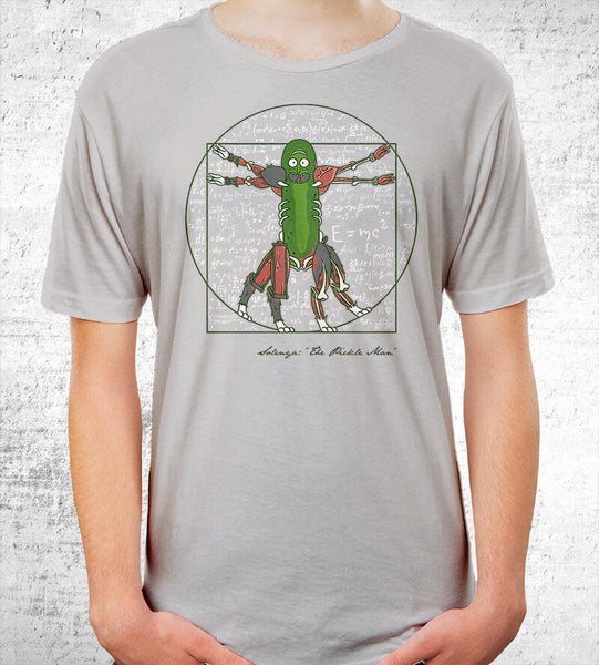 Vitruvian Pickle Man Men's Shirt by COD Designs - Pixel Empire