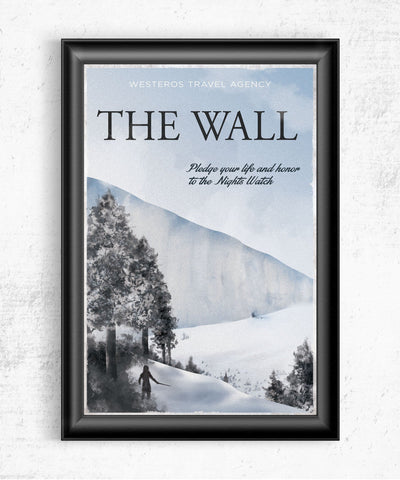 The Wall Travel Poster Posters- The Pixel Empire