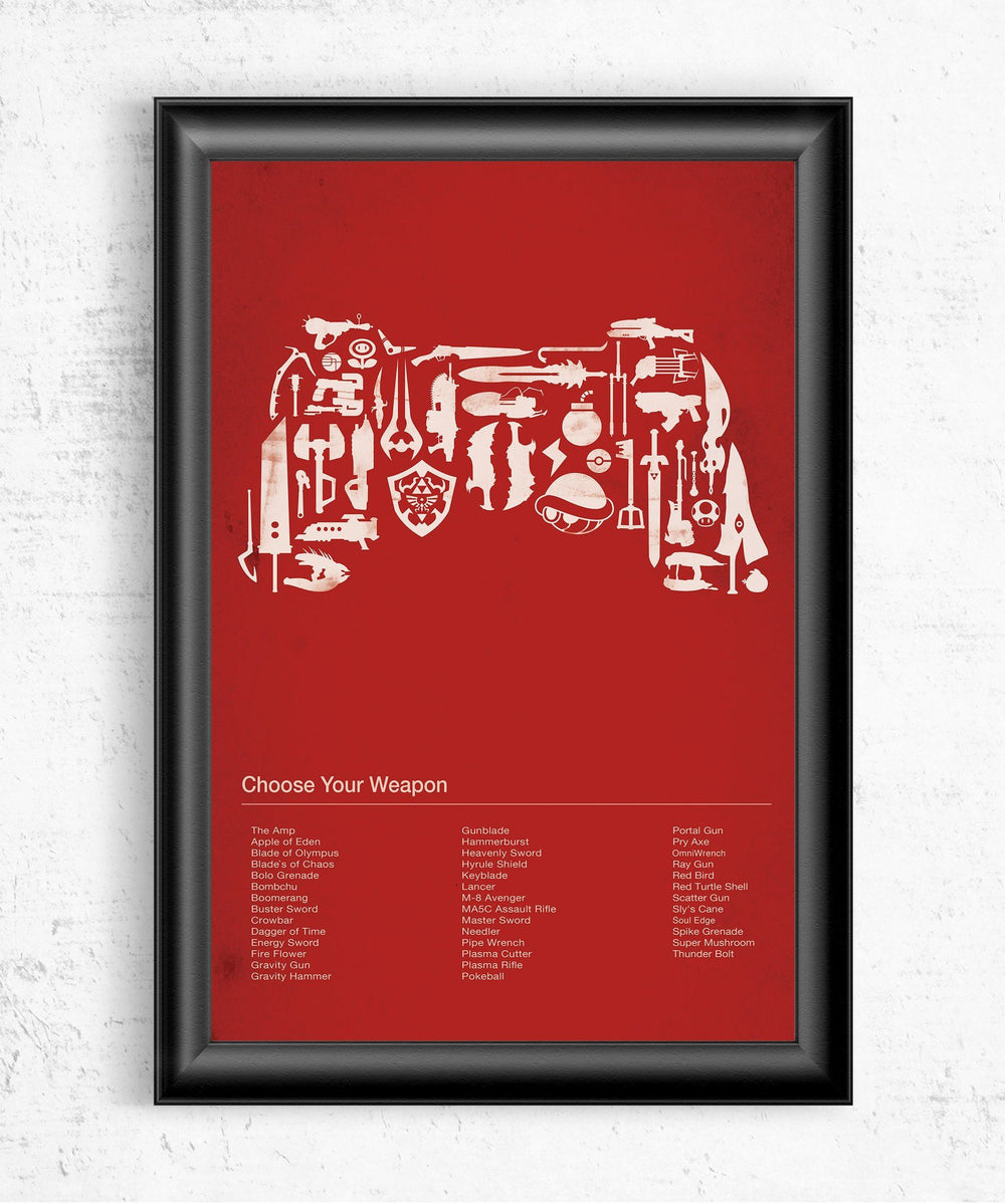 Choose Your Weapon Posters by Dylan West - Pixel Empire
