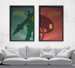 Bioshock - Welcome to Rapture/Columbia Set Posters by Barrett Biggers - Pixel Empire